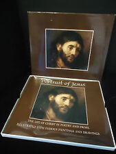 Portrait Of Jesus 1972 Hallmark Crown Book MIB Paintings Drawings & Poems Christ