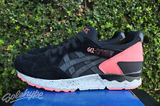 ASICS GEL LYTE V 5 BLACK GREY INFRARED H7N4L 9090 SZ 8