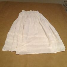NWT Billabong 100% Cotton Solid White Long Full White Skirt Size Small Sexy NEW
