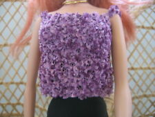 Hand Knit Doll Clothes Purple Cami Top fits 16 inch fashion doll such as Tonner