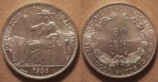 Indochine Française, 50 Cent Argent 1936, UNC !!