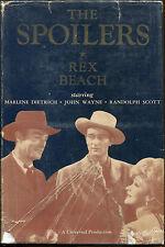 The Spoilers by Rex Beach-G&D Movie Tie In-1942-John Wayne, Marlene Dietrich