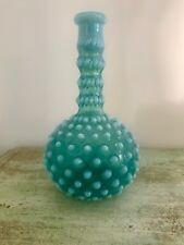 Antique Victorian opalescent Hobnail barber bottle