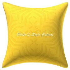 Decorative Cotton Throw Pillow Cover Yellow 40cm Cutwork Abstract Cushion Cover