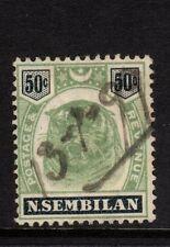 Malaysian States Negri Sembilan 1895-9 SG#14, 50c Green & Black - fine used