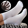 5 Pairs Mens Cotton Solid 200N Casual Mesh Breathe Thin Dress Classic Socks 7-11