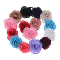 5pc Rose Flowers Hair Bands Rubber Hair Accessories For Girls Women NSCPPTHP U_X