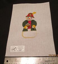 Hand painted Needlepoint Canvas German Snowman  Painted Pony Designs 509 E
