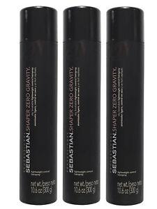 Sebastian Shaper Zero Gravity Lightweight Control Hairspray 10.6 oz Pack of 3