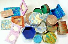 Lot of 18 Handmade Italian Marbled Paper IL PAPIRO  Boxes, Frames, Books NEW