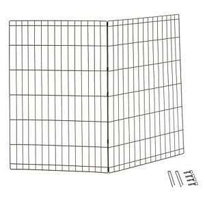 "Midwest Black 30 inch High 48"" Wide Add-on Panels Exercise Pen for Dogs"