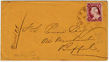 """#26A-3 Cents 1857, 86L10i """"ROCHESTER MAR 22 1858"""" CDS to Buffalo NY"""