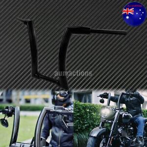 "14"" Rise Black Ape Hanger Bar Motorcycle Handlebar Fit For Harley Softail 00-20"