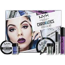 NIB NYX Glow Chromatics Festival Kit 6 PC Set Glitter Lipstick Illuminator +More