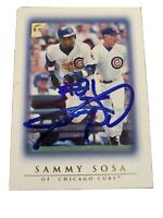 Sammy Sosa Hand Signed Autographed Chicago Cubs Baseball Card W/COA