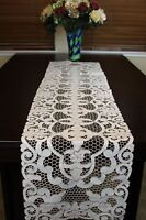 Embroidered Lace Cutwork Placemat Runner Wedding Bridal Party Banquet Event Deco