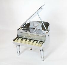 Vintage Occupied Japan Metal PIANO Table  Lighter in Working Condition