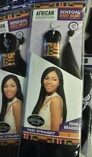 YAKI STRAIGHT - SENSATIONNEL SENEGAL KNOT CROCHET BRAIDING HAIR jet black