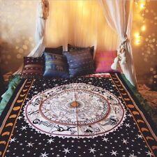 "Zodiac Horoscope Black White Tapestry Twin Size 55"" x 85"" FREE 2 DAY SHIPPING!"