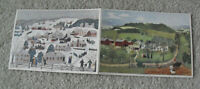 Unique Lot of 2 Vintage 1950s Grandma Moses Folk Art Prints 5x7""