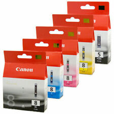 Genuine Canon PGI-5 Black & CLI-8 Cyan, Magenta, Yellow, Black ink cartridges