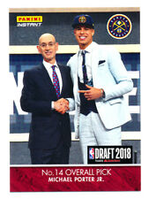 2018 PANINI INSTANT DRAFT MICHAEL PORTER JR RC FIRST NBA ROOKIE CARD SP/259 LIVE