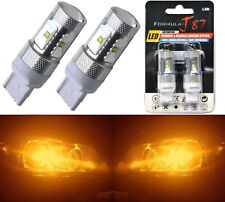 LED Light 30W 7440 Amber Orange Two Bulbs Rear Turn Signal Replacement Lamp
