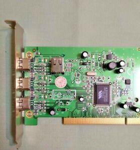 StarTech PCI1394MP 4 port PCI 1394a FireWire Adapter Card -3 External 1 Internal