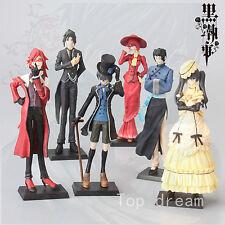 Kuroshitsuji Black Butler Ciel Sebastian PVC Figure Figurine Toys Doll 6pcs GIFT