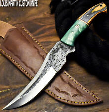 Louis Martin Handmade D2 Tool Steel Hard Wood Hammered Full Tang Hunting Knife