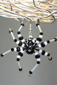Swarovski Black & White Crystal Beaded Spider - Christmas Tree Decoration
