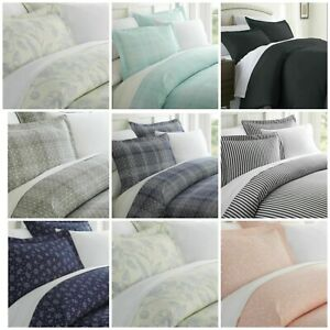 iEnjoy Home 3 Pc Patterned Duvet Cover Set Choose Color Size And Color New