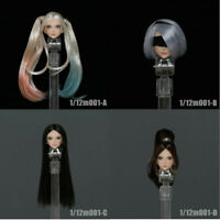 "Iminitoys 1/12 Animel Girl Head Sculpt M001 Fit 6"" Female Phicen Pale Figure"