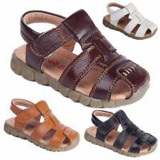 Baby Antiskid Leather Shoes Kids Boys Sandals Summer Children Hook Loop Slippers