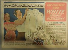 Oxydol Soap Ad: Make Your Husband Notice, White Without Bleaching! from 1940's