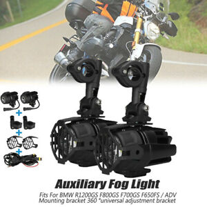 Motorcycle Spot LED Fog Light Guard Cover Wiring Replace Kit For BMW R1200GS ADV