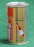 BUDWEISER BEER, BOTTLE ON SIDE CAN, ANHEUSER BUSCH ST. LOUIS, MO.FLAT TOP # 44-5