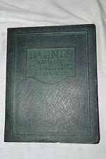 1930 BARNES MANUFACTURING CO. Mansfield, Ohio  Plumbing, Heating