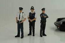 Police Polizia 3 Set personaggi personaggio figure figures 1:18 American Diorama