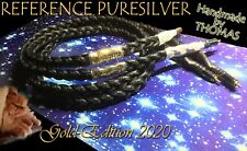 Cosmic-Audio GEFLOCHTENES Reinsilber 1m Puresilver Cable from Thomas 🎵 Kabel