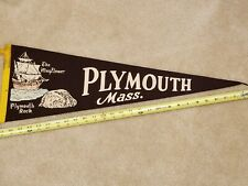 VINTAGE PLYMOUTH MASSACHUSETTS PENNANT