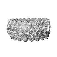 Crystal Rhinestone Stretch Cuff Bracelet Bangle Wedding Bridal Wristband