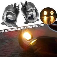 2x Front Bumper Driving Fog Light LED Lamp For Mitsubishi Lancer 2008 2009-2014