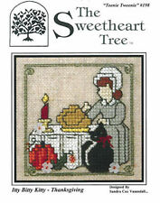 10% Off Sweetheart Tree Counted X-stitch Chart - Itty Bitty Kitty - Thanksgiving