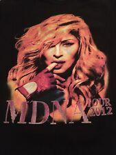 Madonna Mdna 2012 dedos de la gira de conciertos en Boca Negro camiseta Tamaño Mediano