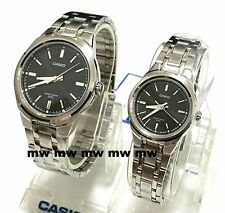 CASIO QUARTZ ANALOG DRESS COUPLE LOVER PAIR MTP/LTP1310D-1A GIFT Stainless Steel