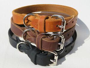 fwf Fettlederhalsband Hundehalsband Fettleder Halsband