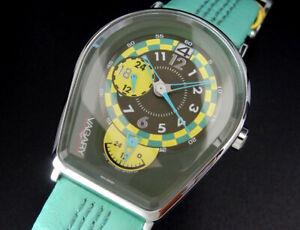 Working Vagary by Citizen Retro-Pop Dual Time Quartz Mens Unisex Green Watch uhr