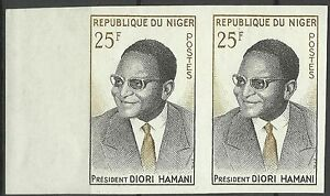 Niger Hamani Diori first President of the Republic of Niger Imperf Pair ** 1961