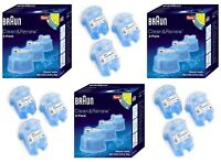 3 x Braun CCR3 Clean and Renew Mens Shaver Hygienic Cleaning Refill Cartridge